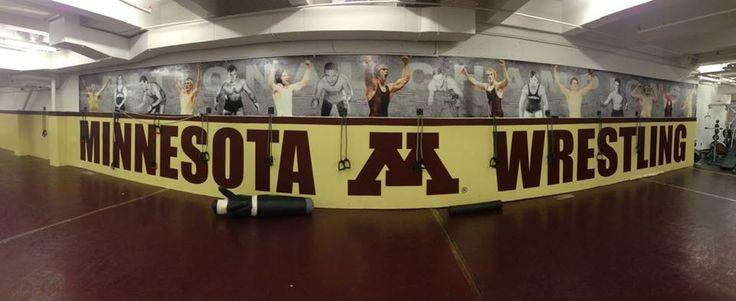 University of Minnesota Wrestling Room Murals