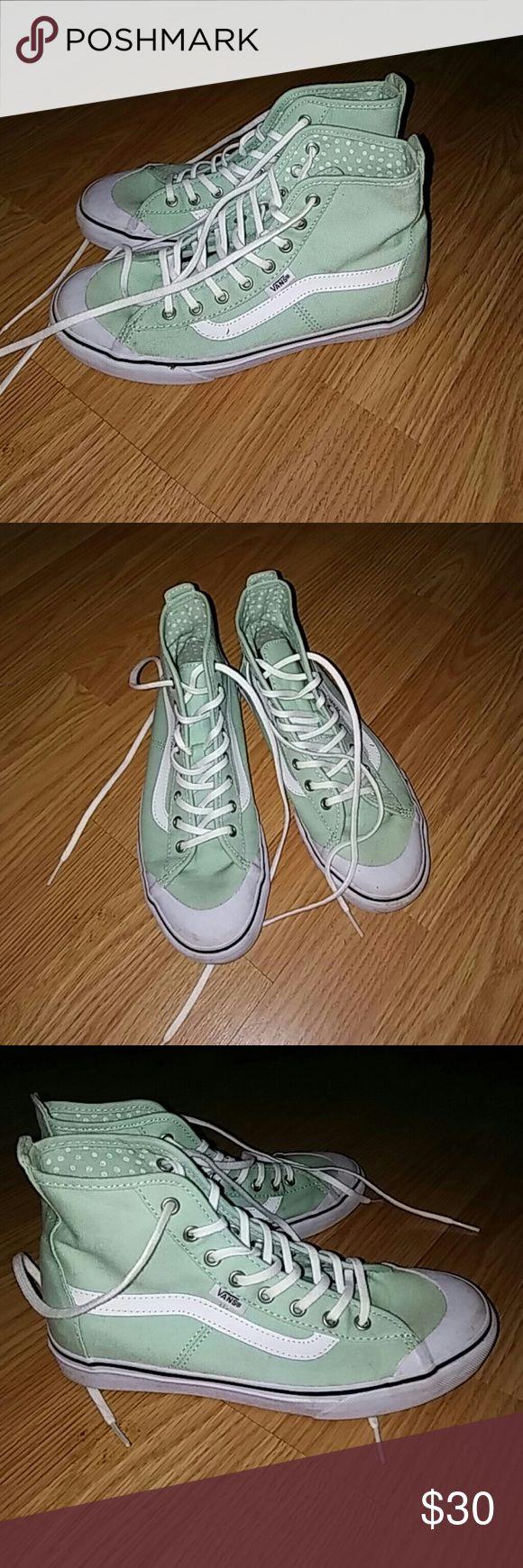 Vans Mint green, size 6.5, only worn twice Vans Shoes