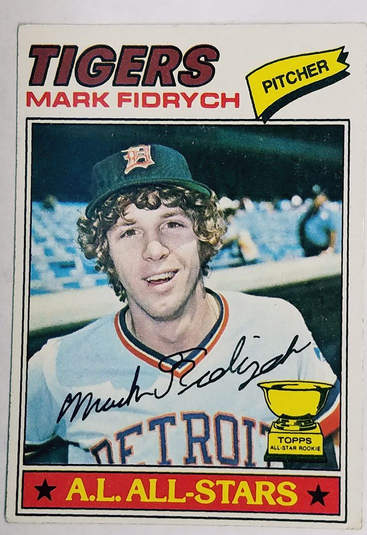 1977 topps 265 mark fidrych rookie card pitcher roy