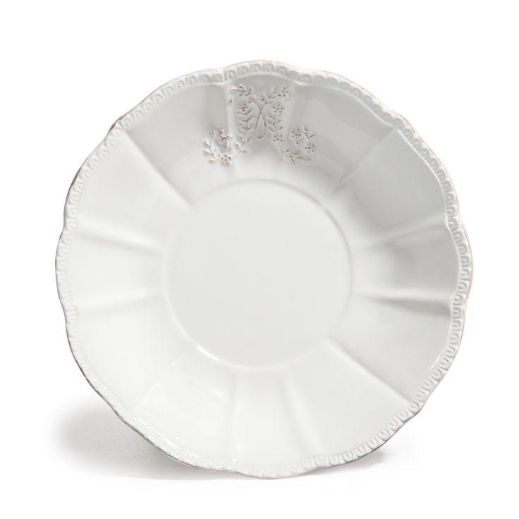 Assiette creuse en faïence blanche D 20 cm BOURGEOISIE   - Vendu par 6