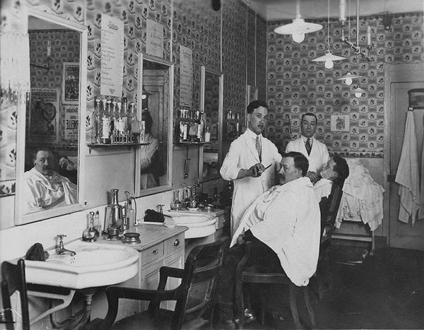 Old barber shop a yawn to younger days pinterest for Moss hair salon