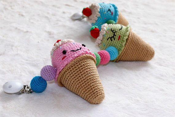 Crochet Baby Stroller Toy/ Pram Toy/ Crochet Ice by LilCrochetLove