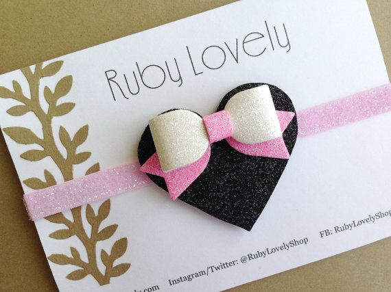 Baby/Girls Neon Pink Headband/Hair-Clip Neon by RubyLovelyShop