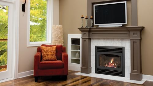 "Windom Warm up even the smallest space with Kozy Heat's ""Windom"" Rear-Direct Vent gas fireplace."