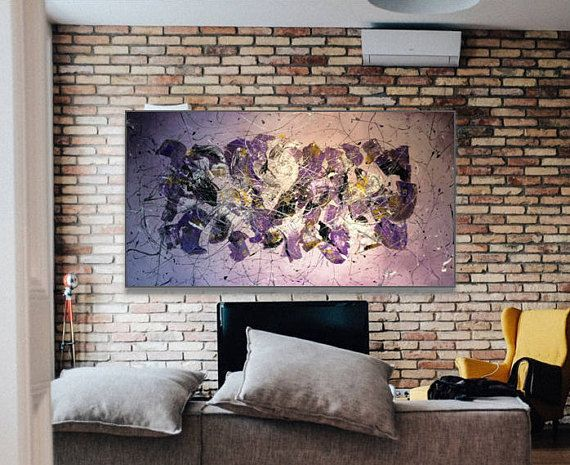 Large Original Abstract painting acrylic and enamel