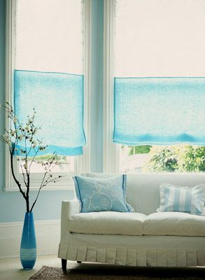 Don 39 T You Just Love The Ruffling At The Bottom Of The Sofa White Turquoise Blue Living Room