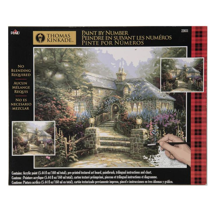 Plaid 16 in. x 20 in. Hollyhock House Paint By Number Kit