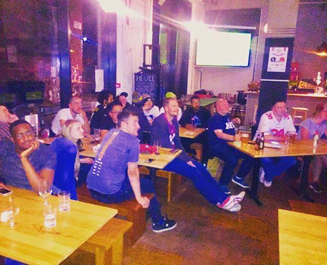 Reposting @gridirongravy: Fantastic turn out for week 1 at @PieandAleMcr tonight! Big up to everyone here! 👊  #steelers #browns 🇬🇧😚🏈 #nfl #nfluk #gngfootball #beer #food #drink #pie #pies #dessert #beer #ale #realale #football #sport