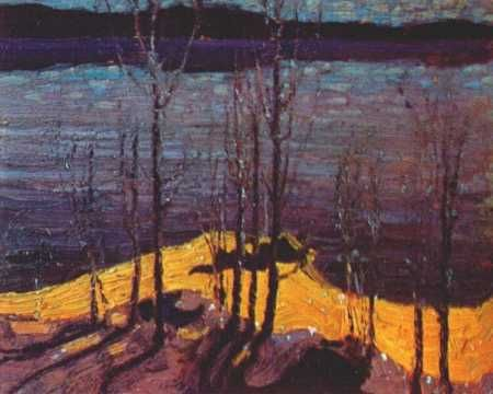 Moonlight and Birches - Tom Thompson