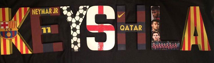 $5 per letter Barcelona Soccer inspired letters