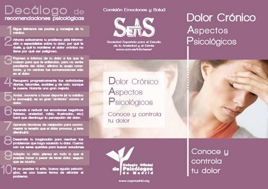 Dolor Crónico, decálogo  http://www.ansiedadyestres.org/dolor-cronico-decalogo