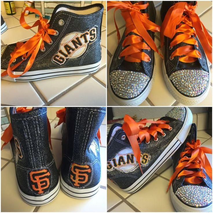 San Francisco Giants Women's High Top Sneakers  #sfgiants #SanFranciscoGiants