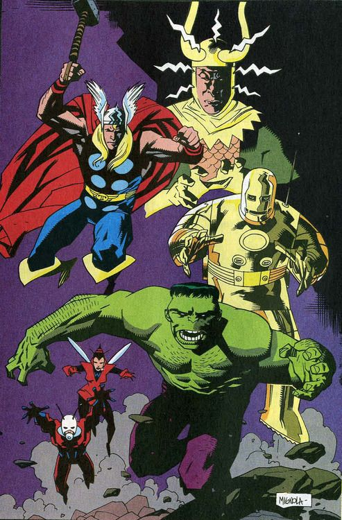 shoes jewelry The Avengers by Mike Mignola  I love the old comic book style