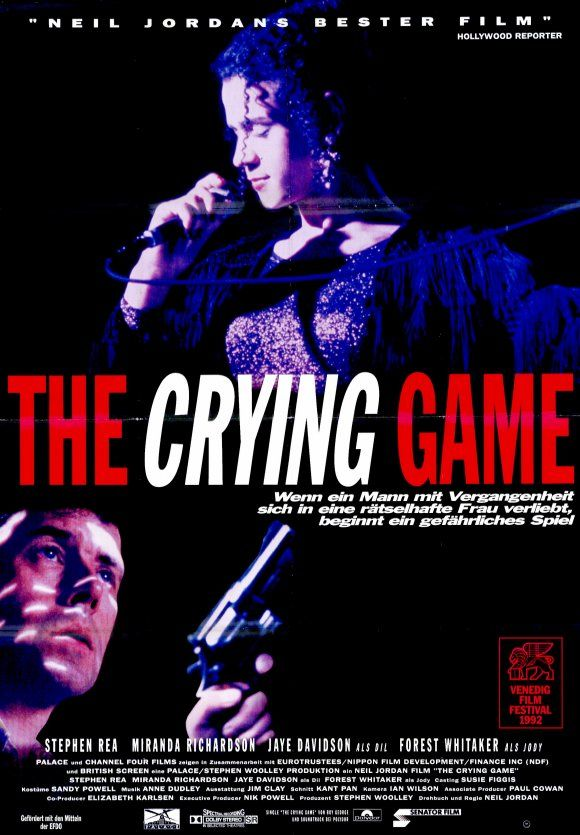 The Crying Game , starring Stephen Rea, Jaye Davidson, Forest Whitaker, Miranda Richardson. A British soldier is kidnapped by IRA terrorists. He befriends one of his captors, who is drawn into the soldier's world. #Crime #Drama #Romance #Thriller