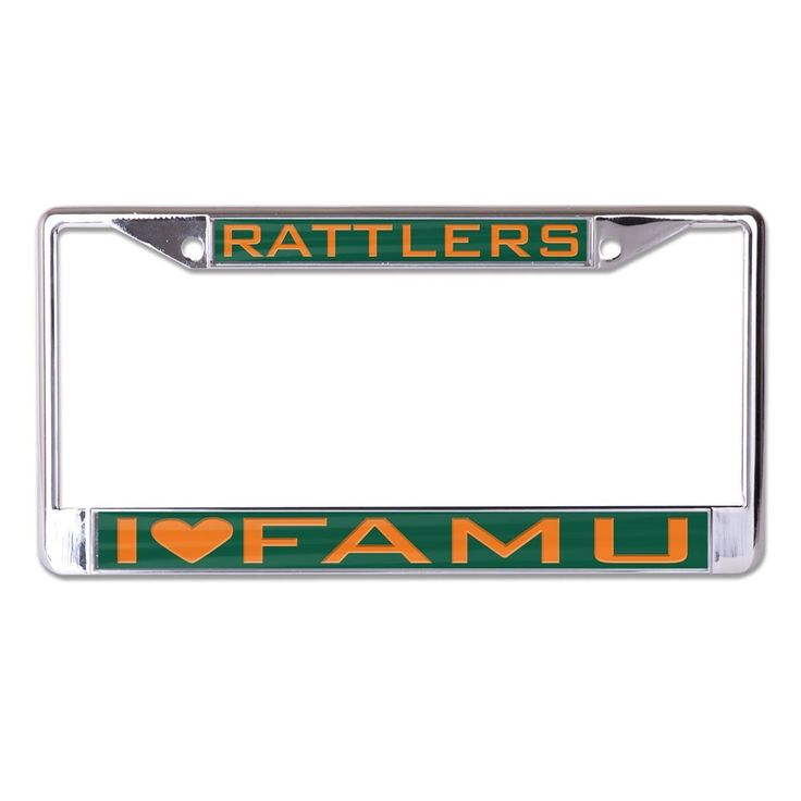 Florida A&M University FAMU License Plate Frame- Style Three - Brothers and Sisters' Greek Store