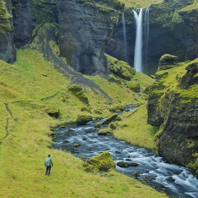 Chasing Waterfalls, Seljalandsfoss, Iceland. Photo courtesy of mistertraveler and peytonhale on Instagram.