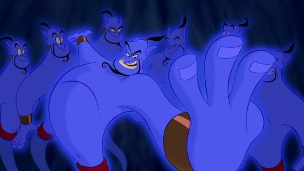 "In the original story draft there were two genies. One was the genie of the lamp and the other the genie of the ring. | 19 Things You Might Not Know About ""Aladdin"""