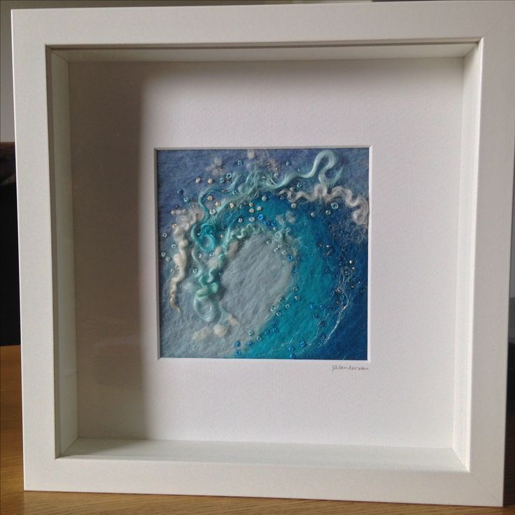 Surf wave by The Wee Felt Art Company