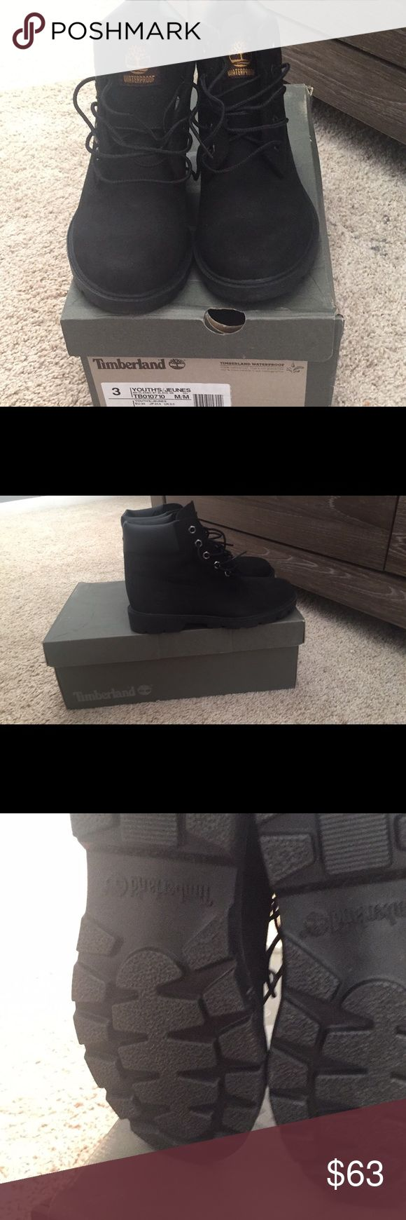 Youth timberlands never worn Black size 3 new Timberland Shoes Boots