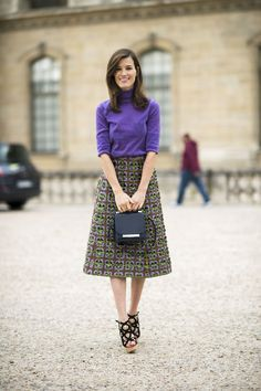 Image result for a line skirt street style