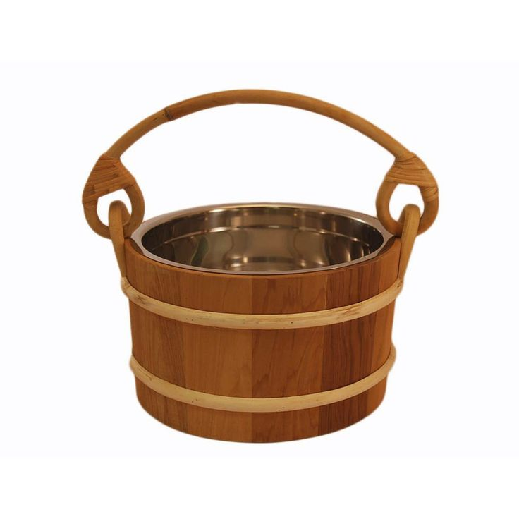 Spas and Hot Tubs 84211: Free Shipping! Cedar Bucket W Stainless Steel Liner, Sauna Accessories, Sauna -> BUY IT NOW ONLY: $79.99 on eBay!