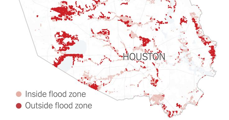 """About 40 percent of flooded buildings were in areas considered a """"minimal flood hazard."""""""