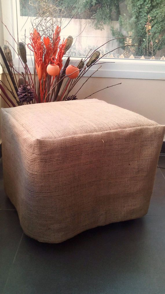 Burlap Ottoman Slipcover - Burlap Ottoman Cover - Ottoman Cover - Chair Cover - SlipCover - Rustic Decor - Rustic Home Decor *******Handmade Natural Burlap Ottoman Slipcover******* A natural burlap ottoman slipcover. Burlap is a great way to add warmth, character, texture and a rustic organic feel to your home. Measurements for this listing: 16 by 16 and 15 height, Our ottoman cover can be made in any dimensions, just contact us, and we will make you a custom order. Thanks for looking.