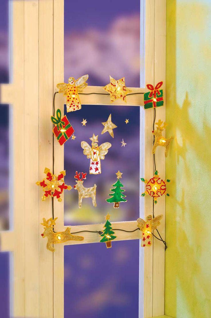 """Weihnachtliche Lichterkette (Idee mit Anleitung – Klick auf """"Besuchen""""!) -"""