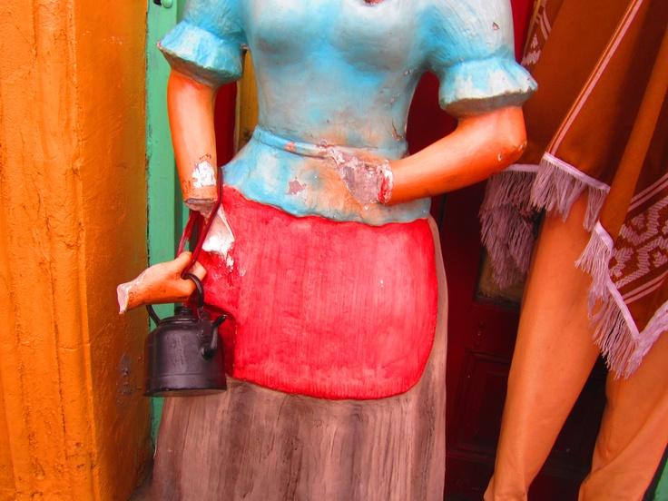 Sad, broken mannequin still living in La Boca, Buenos Aires
