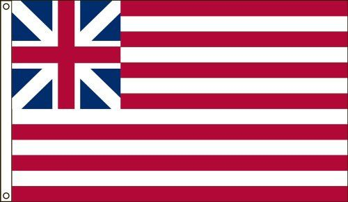 America's Flag Company 6-Foot by 10-Foot Nylon Grand Union Historical Flag with Canvas Header and Gr