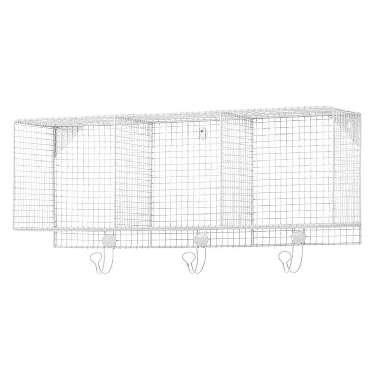 Three Cube Iron Wire Wall Shelf | The Land of Nod