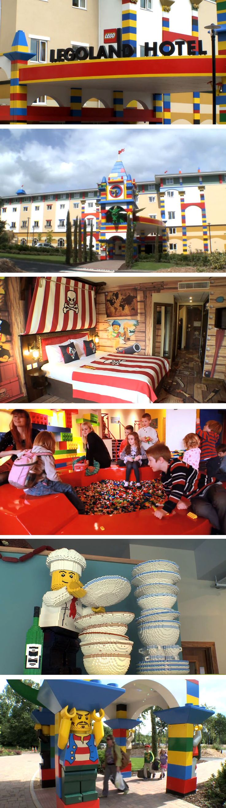 A real-life LEGO hotel. Next to the Legoland amusement park in Carlsbad, Calif., giving brick-loving kids (and kids at heart) a place to doze after bulldozing.