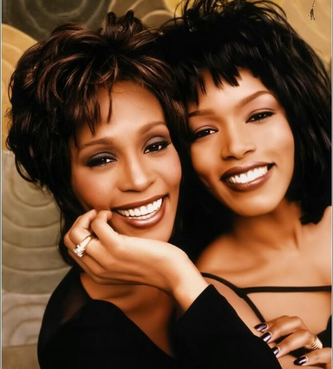 Beautiful photo - RIP Whitney Houston, Angela Bassett