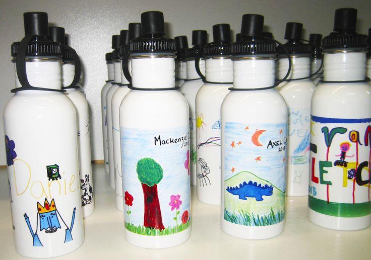 Stainless Steel Drink #Bottles make very useful #personlised gifts!
