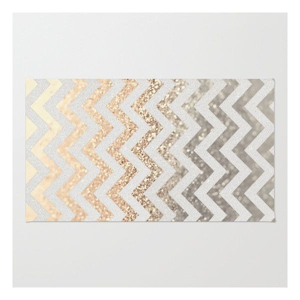 Gold Silver Rug 28 Liked On Polyvore Featuring Home Rugs Washable Area Rugsmachine