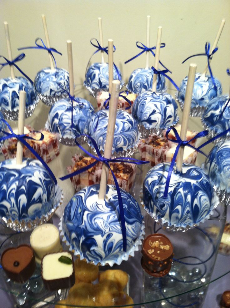 Marble Chocolate covered Apples I made!