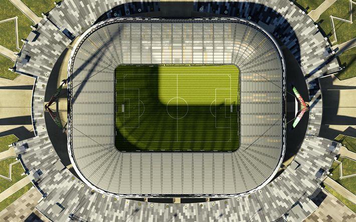 Download imagens A Juventus Arena, 4k, Allianz Stadium, estádio de futebol, A Juventus, Turim, Itália, vista de cima