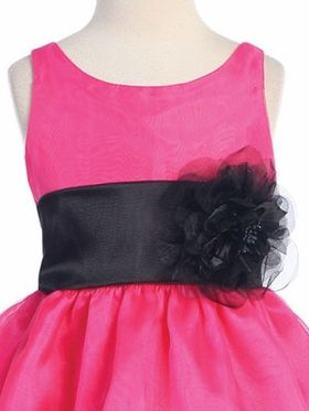 Fuchsia 3-Tier Organza Flower Girl Dress - 2016 Flower Girl Dresses