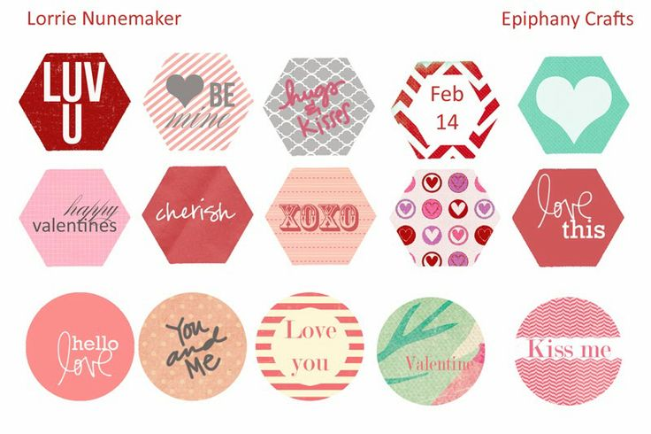 Valentine Freebies for the Epiphany Crafts Hexagon and Round 25