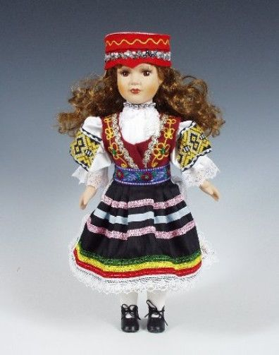 Moravia Czech Porcelain Doll with Ethnic Costumes - Region Zdiar