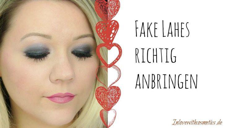 Fake Lashes richtig anbringen - Künstliche Wimpern ankleben Tutorial - Inlovewithcosmetics