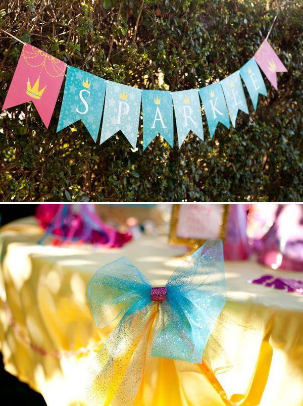 Para una fiesta de princesas ¿Qué tal una estación de Centro de belleza? #FiestasInfantiles