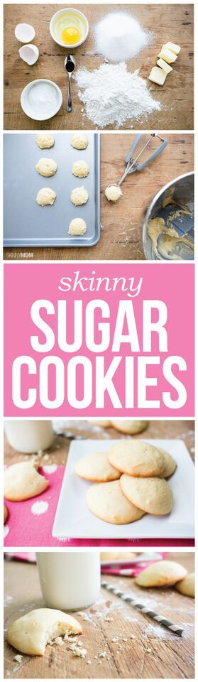 Skinny Sugar Cookies- 168 calories for two cookies, eat up!