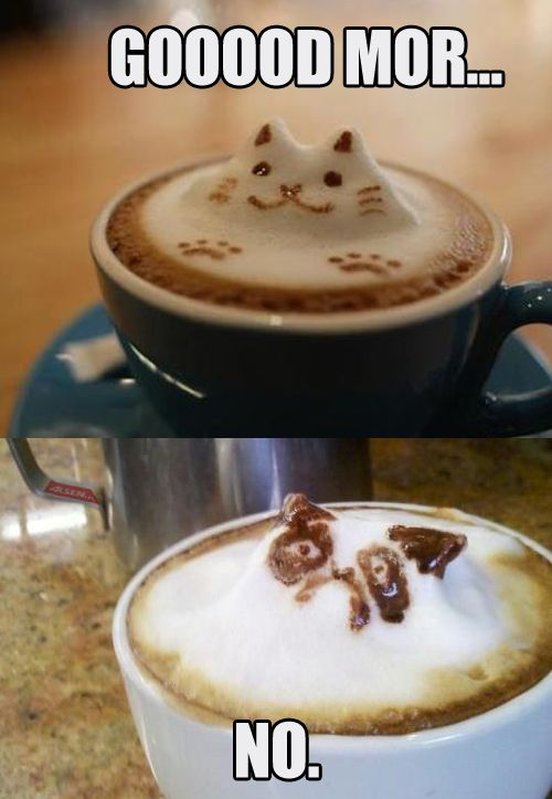 The Best Part of Waking Up is a Tiny Nightmare in Your Cup
