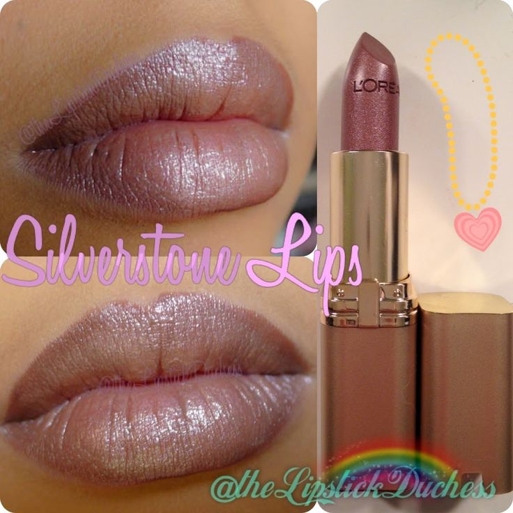 L'oreal Colour Riche Lipcolour in SILVERSTONE - This is my all time favorite lip color. A must have.