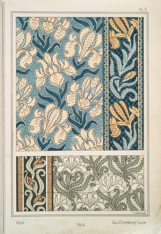 Растительные орнаменты. Часть 1. - Старый гербарий