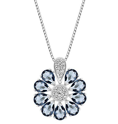 T400 Jewelers Butterfly Flower Leaves Waterdrop Pendant Necklace Made with Swarovski Element Crystal Love Gift,45+6CM