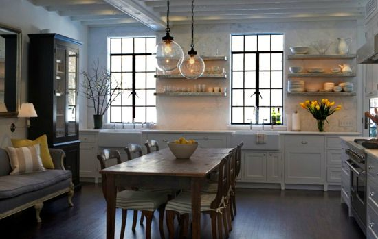 open shelving, eat in design