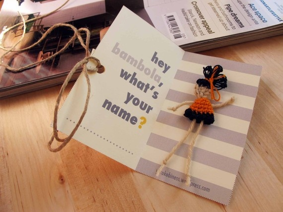 Doll Earring Ehy Bambola Whats your Name by yorokobiness on Etsy, €12.00