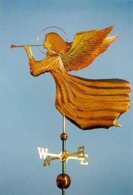 Angel Weathervane In Flight by West Coast Weather…
